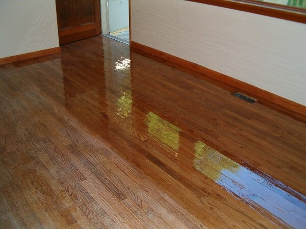 before and after wood floor resurfacing