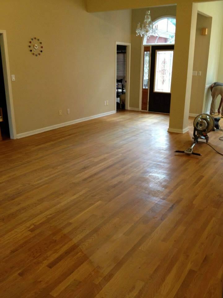 a lightly damaged hardwood floor surface