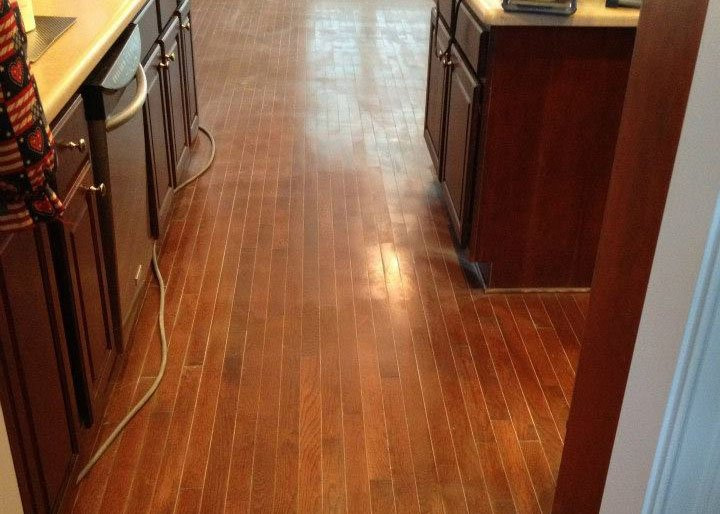 a floor that needs to be resurfaced
