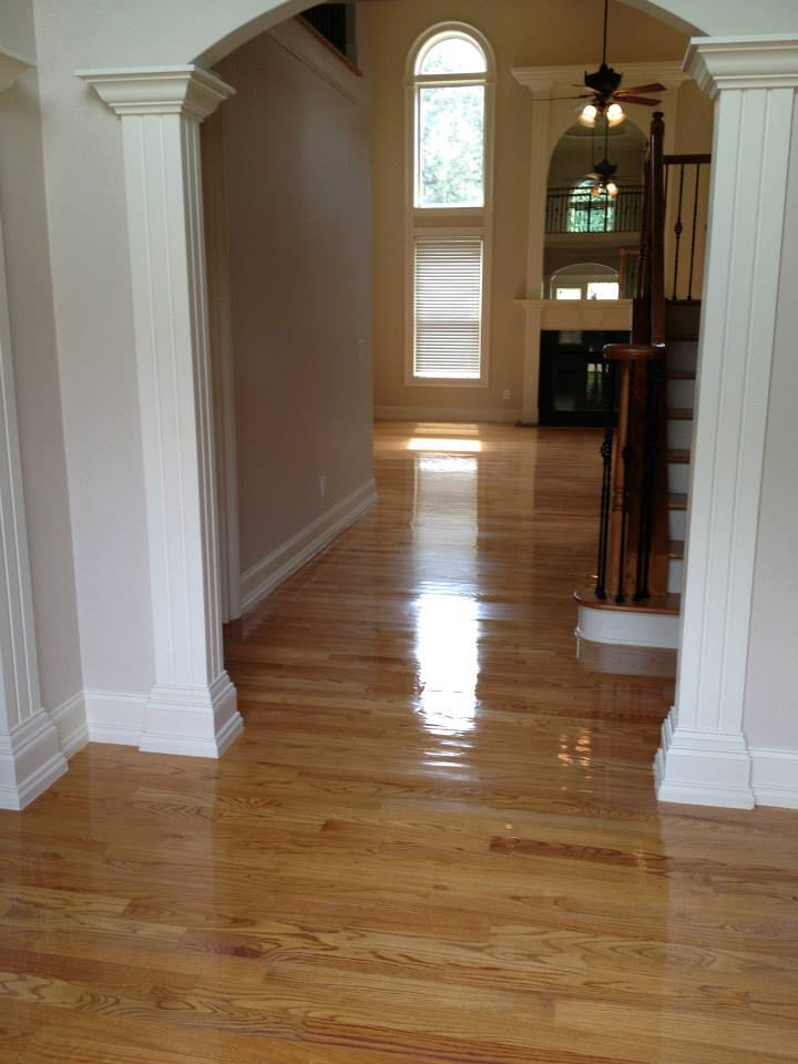 An after shot of one of our hardwood floor resurfacing projects