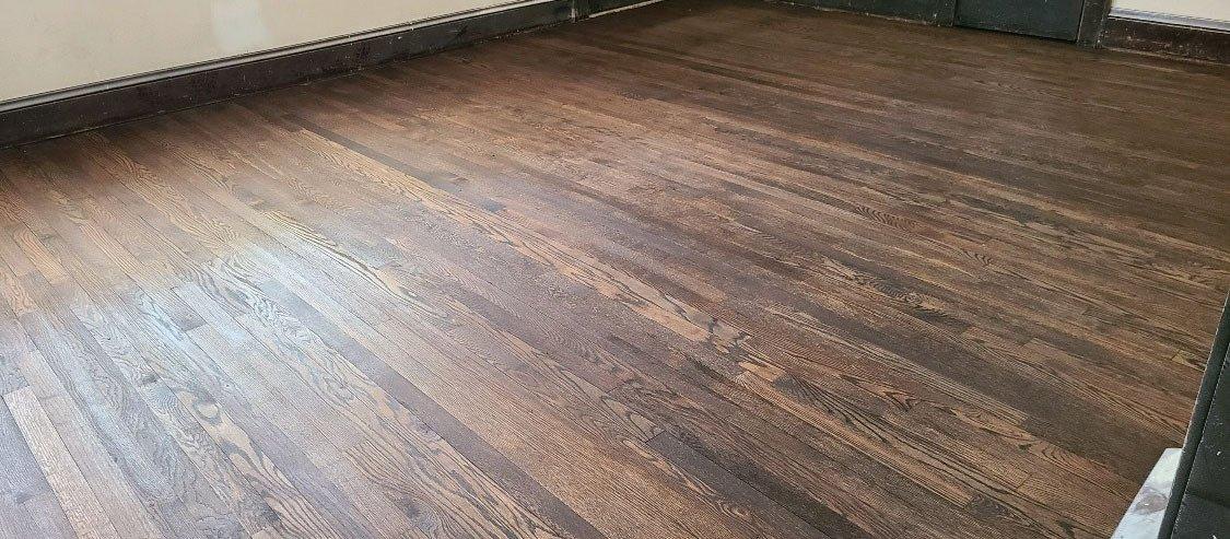 a refinished hardwood floor done by Fabulous Floors San Antonio