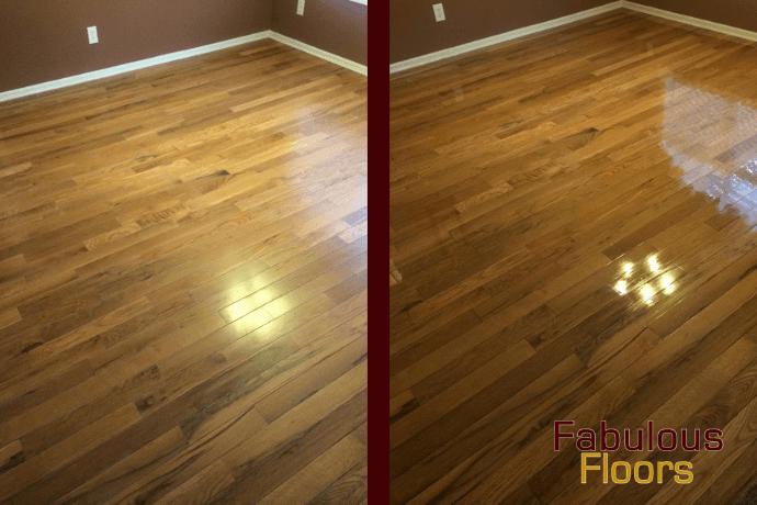 before and after hardwood floor resurfacing